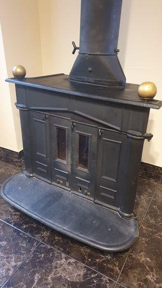 chimenea hierro forjado