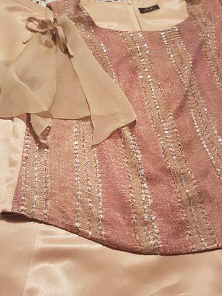 Conjunto de falda y blusa ceremonia