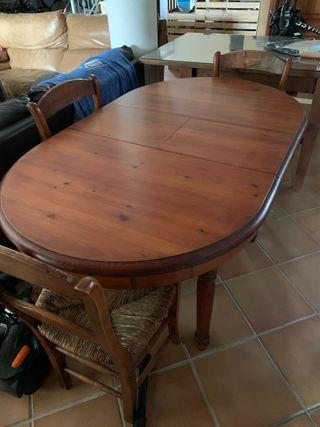 Mesa con sillas ESCUCHO OFERTAS