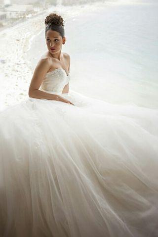 Vestido de novia (Pronovias) Alquiler.