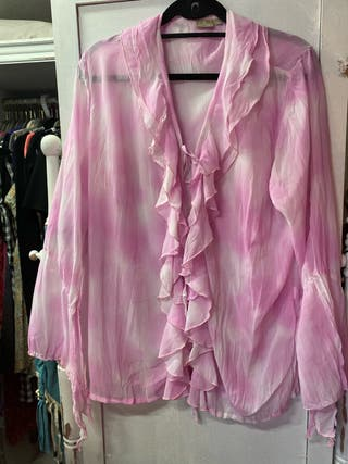 Blusón fluido pink
