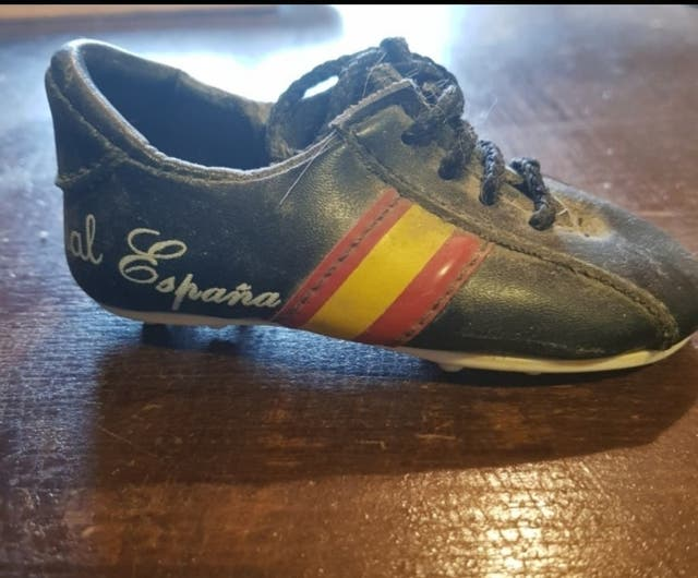 Mini bota de fútbol. Mundial España 1982