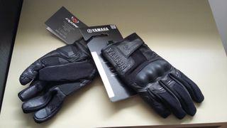 guantes de moto ixon yamaha negros