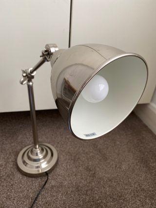 IKEA desk lamp silver