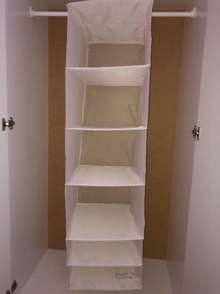 Organizador de tela para armario