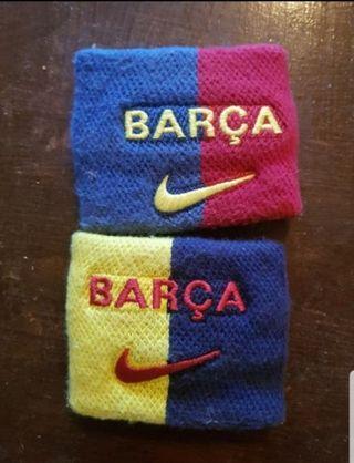Juego de muñequeras del FC Barcelona. Barça
