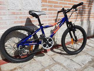 Bici Mtb 20 pulgadas cambio Shimano y suspension