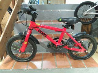 bicicleta nen Frog 43 vermella