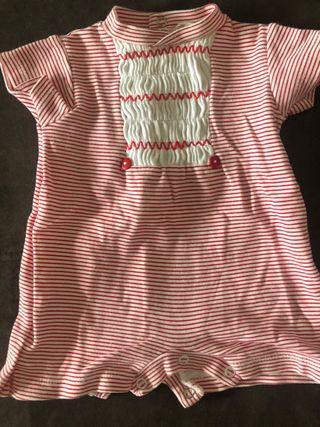 Pijama corto talla 1 mes