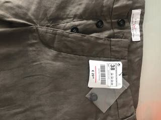 Pantalon lino Zara Man