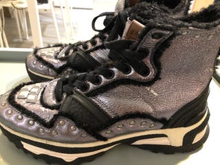 COACH Zapatillas Gunmetal Studded C243