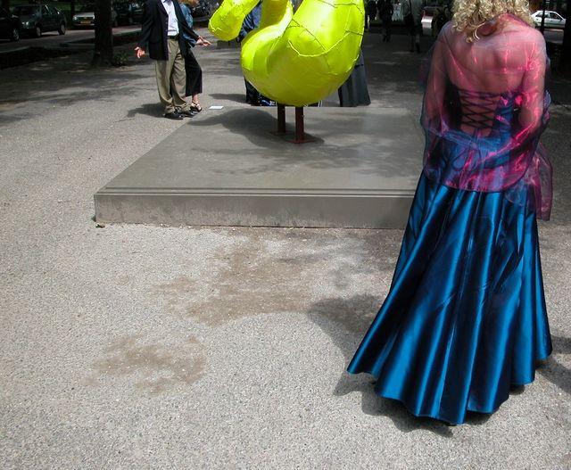 Vestido de fiesta o boda color azul