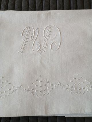 Sábanas antiguas algodón. Individual. 2 juegos