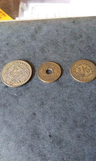monedas siria 1940-1950