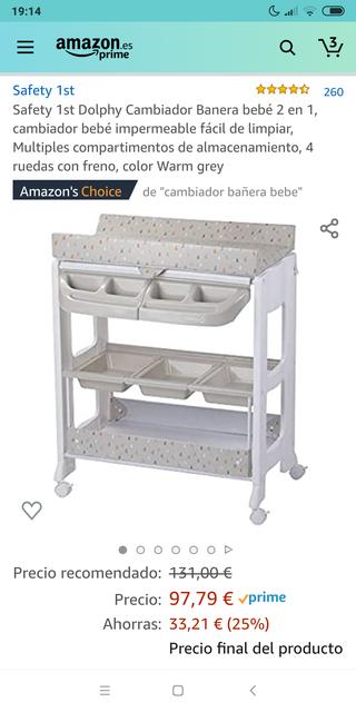 Cambiador - Bañera bebé