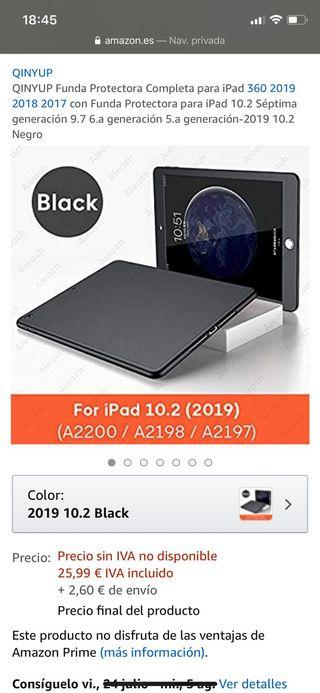 funda iPad negra 10.2 2019
