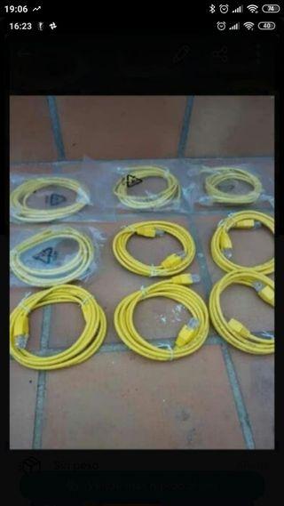 lote de 10 cables de red nuevos a estrenar