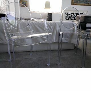 starck ghost silla 84€ sillón 93€ NUEVAS