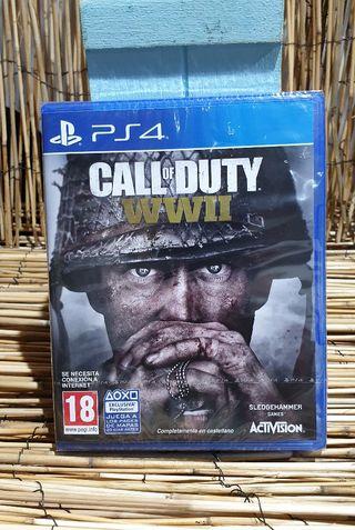 videojuego nuevo precintado PS4 CALL OF DUTY WWII