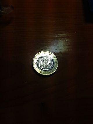 Moneda de 1 euro (€) de Grecia de 2002