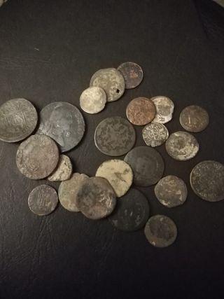 Lote de monedas Españolas muy antiguas