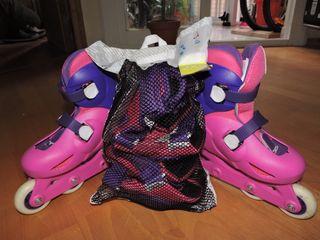 set de patines, casco y protecciones infantiles