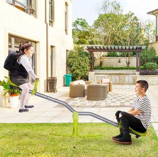 Columpio Balancín Infantil Exterior Giratorio 360°
