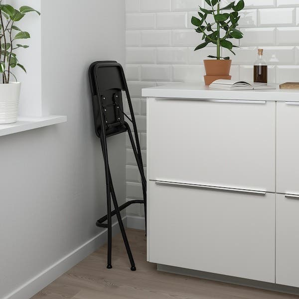 Chaise de bar marron pliable IKEA x 2