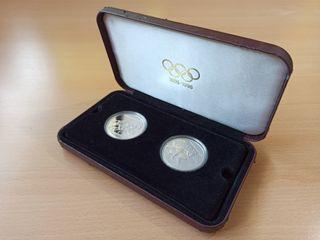 Monedas olimpiadas 1986-1996 plata