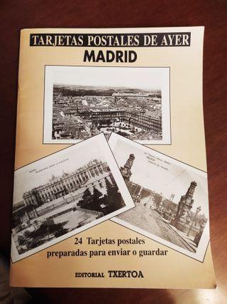 Tarjetas postales de Madrid antiguo.
