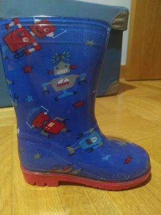 botas de agua niño talla 24