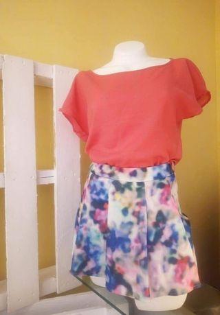 CONJUNTO blusa + Falda short