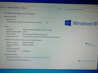 Lenovo Pentium G3240 3,1Ghz/4GB DDR3/Windows 10