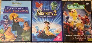 Pack infantil 3 películas DVD