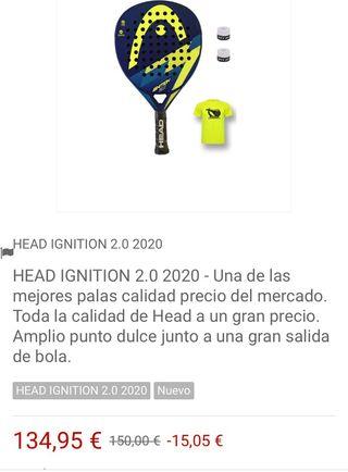 Pala de padel Head Ignition 2020
