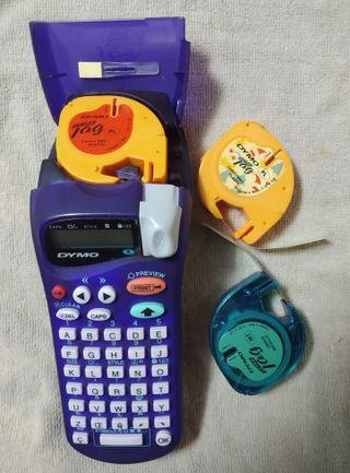 Rotuladora Dymo Letra Tag 2000 con 3 cartuchos