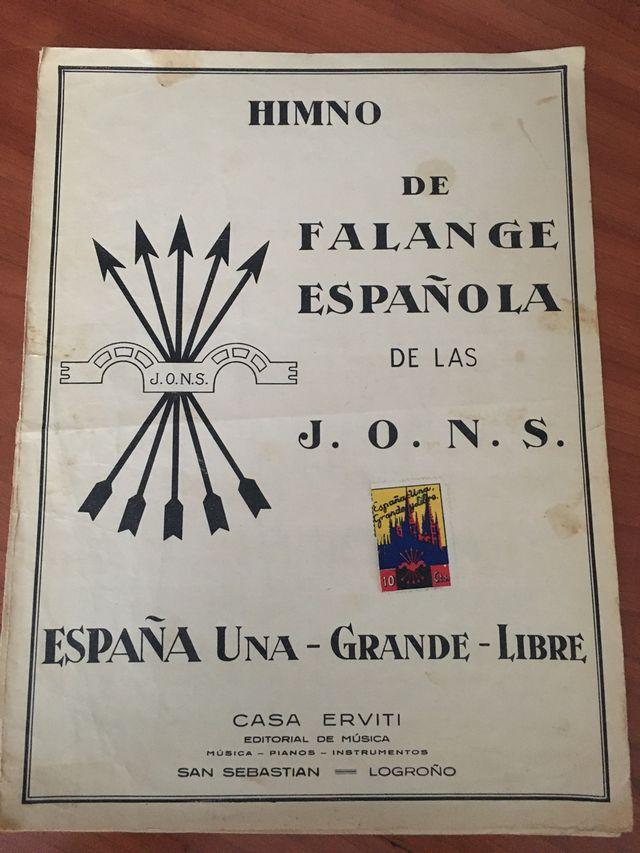 947 HIMNO FALANGE ESPAÑOLA SELLO BURGOS
