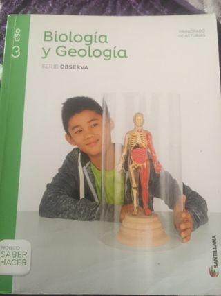 """Libro de Biología y Geología 3°ESO """"Santillana"""""""