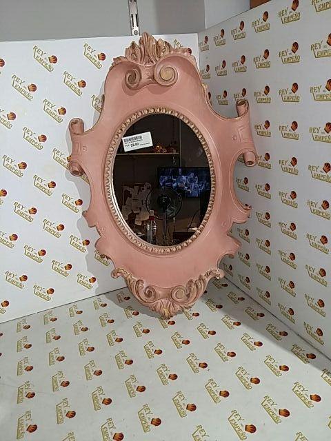 Espejo rosa labrado