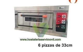 HORNO PARA PIZZA 6X33 CM A GAS
