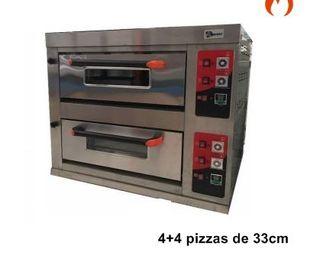 HORNO PARA PIZZA 4+4X33 CM A GAS