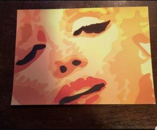 Colección de 8 postales de Marilyn Monroe Pop Art