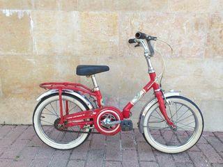 Bicicleta bh infantil retro plegable