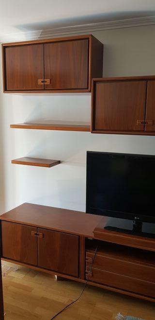 Mueble modular salón con vitrina