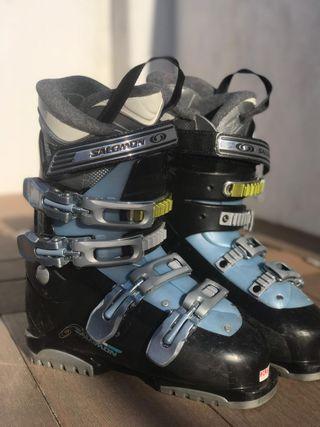 Botas de esquí Salomon mujer talla 38-39 EU