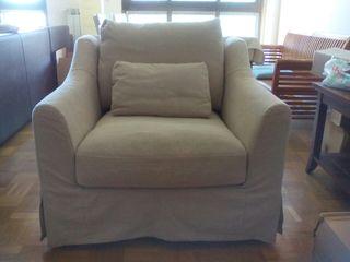 Sillón Farlov de Ikea, color beige