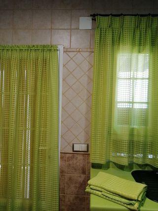 Visillos conjunto 1 puerta 2 ventanas