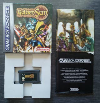 Vendo Golden Sun para Game Boy Advance.