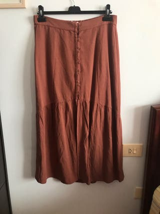 Falda color Teja