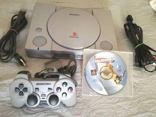PlayStation 1 Impecable con mando y un juego